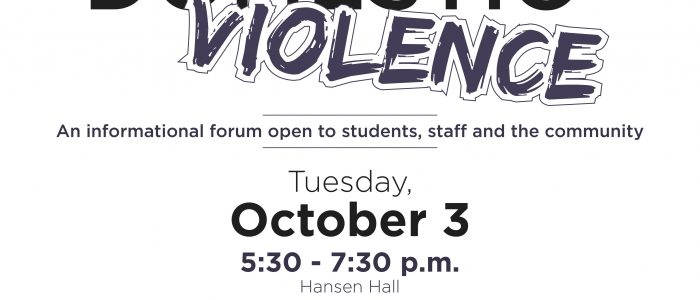 October 3 Domestic Violence Forum at East Central College