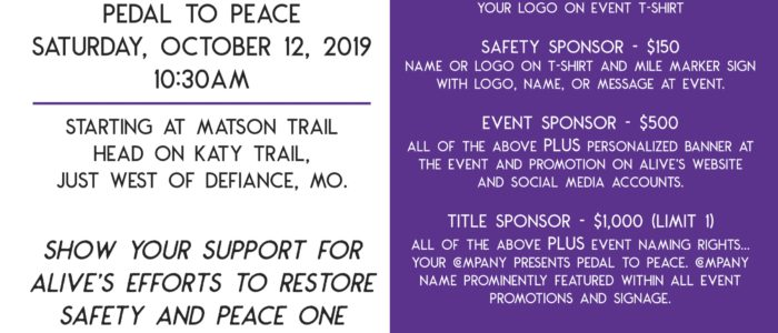 October 12- Pedal to Peace 2019